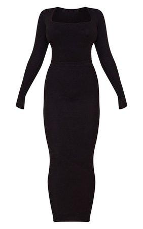 Tall Chocolate Brushed Rib Midaxi Skirt | PrettyLittleThing