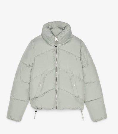 mint green bershka puffer coat