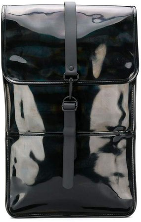 large glossy effect backpack