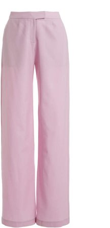 MATERIEL Wool Low-Rise Straight-Leg Trousers