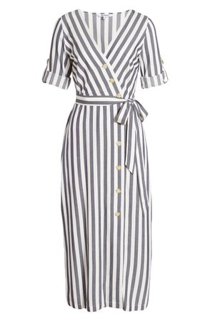 BB Dakota Set Sail Stripe Midi Dress | Nordstrom