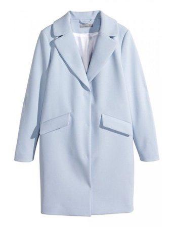 Light blue trench coat
