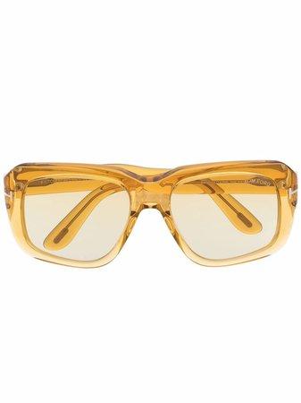 TOM FORD Eyewear gradient-lens oversize-frame sunglasses - FARFETCH