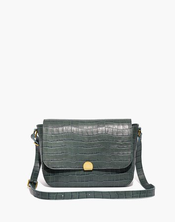 The Abroad Shoulder Bag: Croc Embossed Leather Edition
