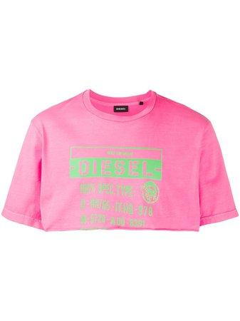 Diesel Cropped T-Shirt 00SGTV0CAYW Pink | Farfetch