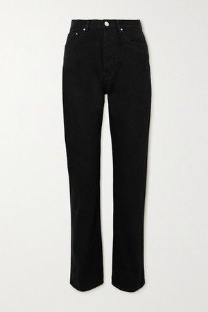 Ease High-rise Straight-leg Jeans - Black