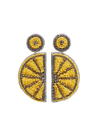MANGO Lemon earrings