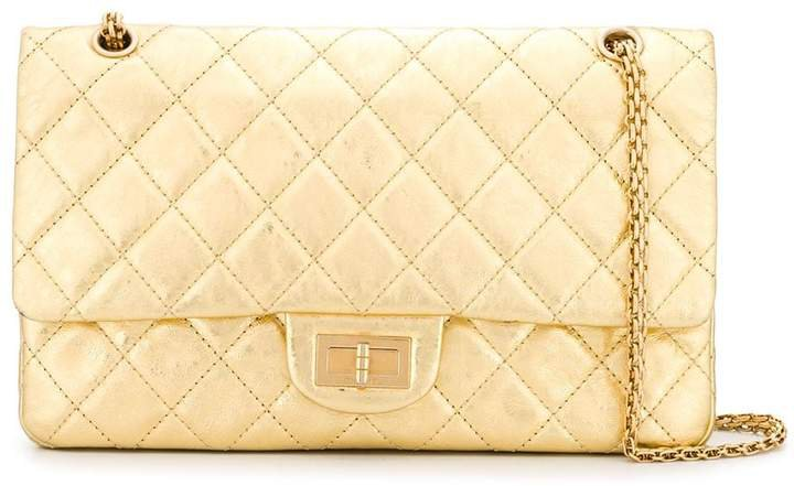 Pre-Owned quilted metallic shoulder bag