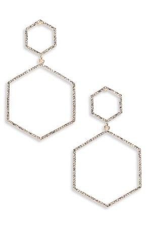 Panacea Crystal Hexagon Earrings   Nordstrom