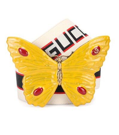 Butterfly striped belt