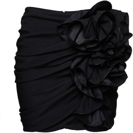 Magda Butrym Ruffled Silk-Blend Mini Skirt