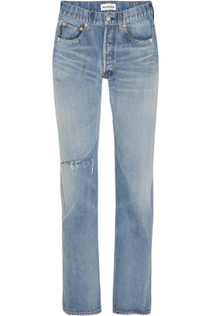 Balenciaga | Distressed high-rise straight-leg jeans | NET-A-PORTER.COM