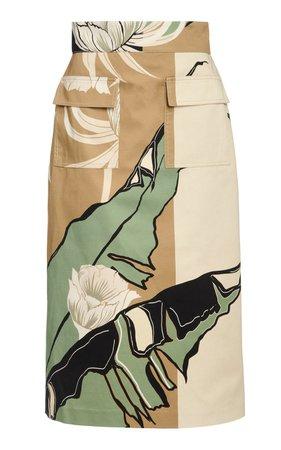 Authentic Manuscript Printed Cotton-Blend Skirt by Johanna Ortiz | Moda Operandi