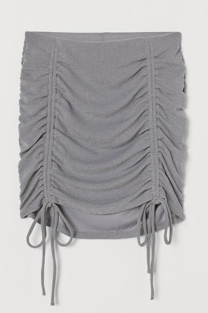 Draped Skirt - Gray