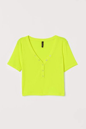 Short Jersey Top - Yellow