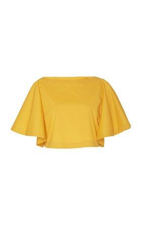 Summer Haze Short Sleeve Crop Top by Johanna Ortiz | Moda Operandi