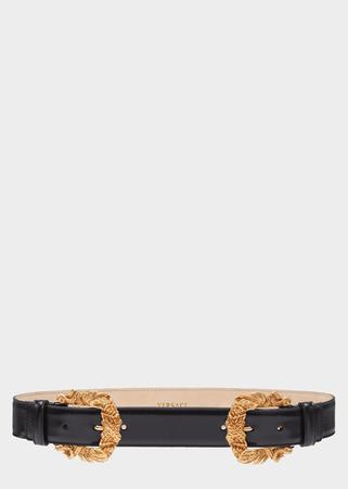 Versace Double Baroque Buckle Tribute Belt for Women   US Online Store