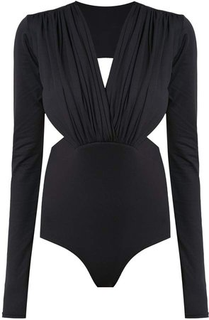 Long Sleeved Bodysuit With Cut Details
