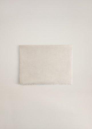 Frayed edge linen scarf - Women | Mango USA
