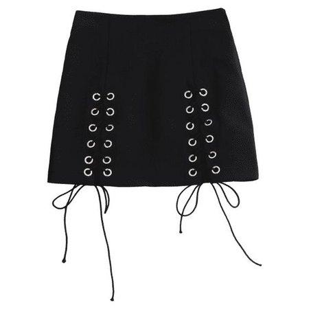 Punk Lace Up Mini Skirt