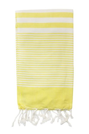 Yellow Striped Men's Beach Towel