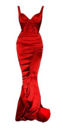 Dress long red