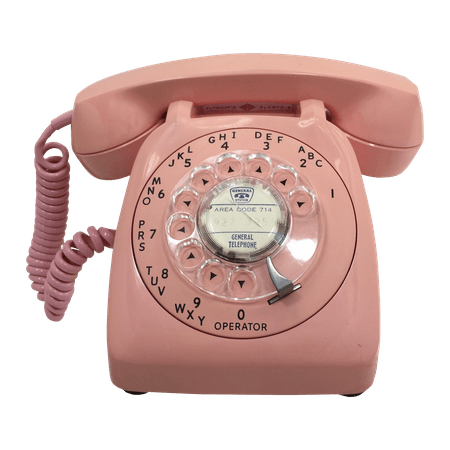 Pink Rotary Dial Phone