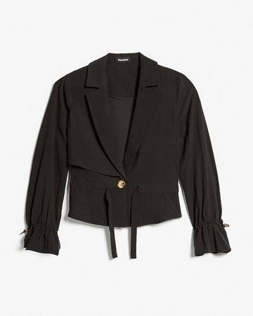 Cropped Utility Trench Jacket | Express