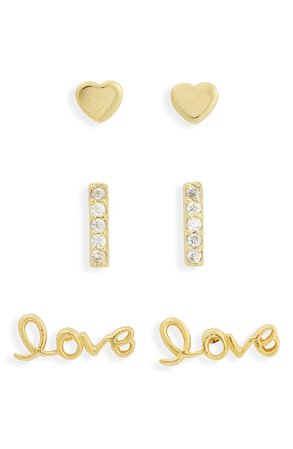 Argento Vivo Sterling Silver 3-Pack Earrings | Nordstrom