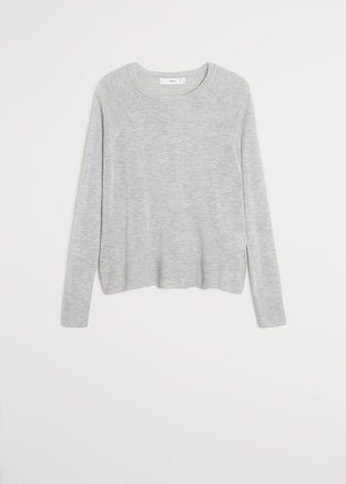 Fine-knit sweater - Women | Mango USA grey