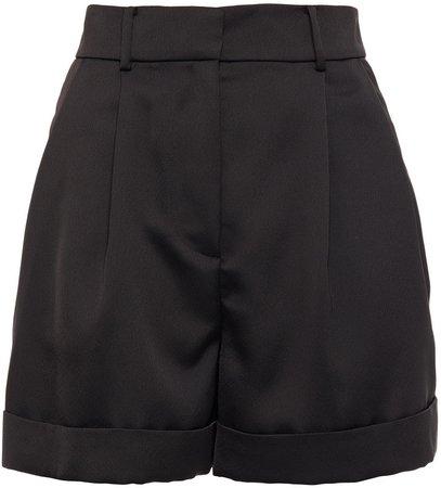 Shiana Pleated Satin-crepe Shorts