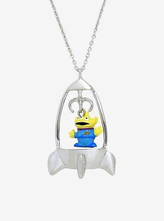 Disney Pixar Toy Story Alien Spaceship Necklace