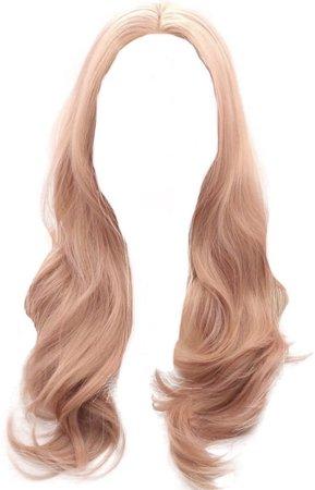 Long Rose Gold Hair