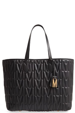 M-Quilted Leather Tote
