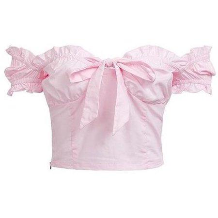 pastel pink Lolita Bardot top
