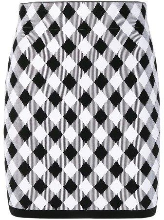 Balmain gingham check mini skirt