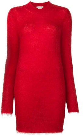 1017 Alyx 9SM long-sleeve mini mohair and wool sweater dress