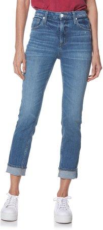 Sarah High Waist Straight Slim Leg Jeans
