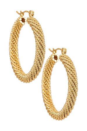 Natalie B Jewelry Tuli Hoop Earring in Gold | REVOLVE