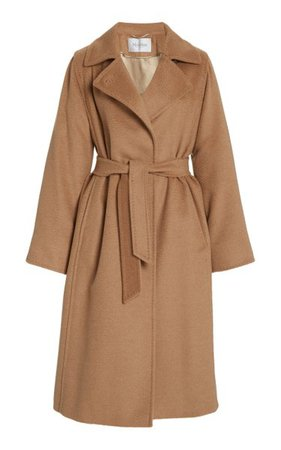 Manuela Belted Camel Wool Trench Coat By Max Mara | Moda Operandi