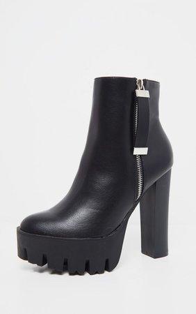 Black Platform Ankle Boots | PrettyLittleThing