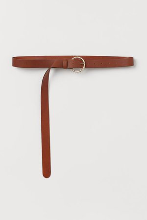 Leather Belt - Brown - Ladies   H&M US