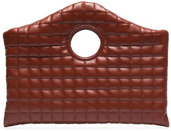 Anouk quilted clutch bag