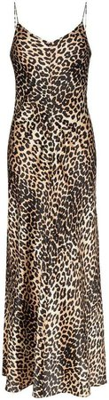 Blakely leopard-print stretch-silk slip dress