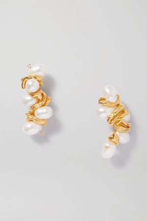 Gold The Calliope gold-plated pearl earrings | Alighieri | NET-A-PORTER