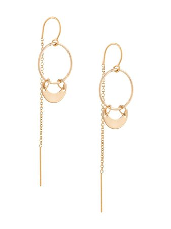 Petite Grand Mini Crest Thread Through Earrings 123 Metallic | Farfetch