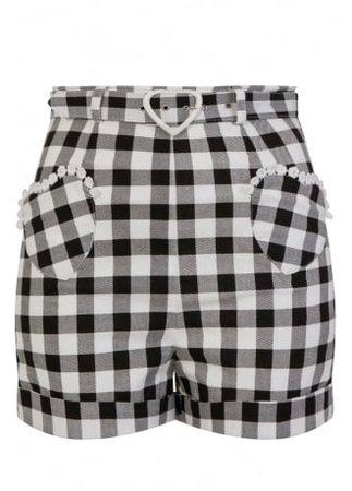 COLLECTIF CLOTHING Lisa Vintage Gingham Retro Shorts