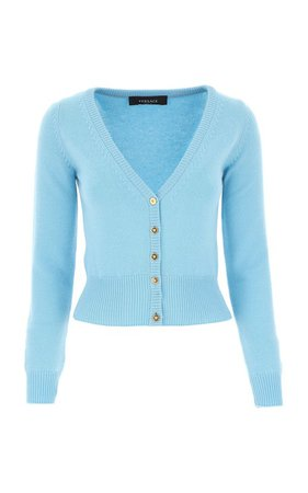 Cropped Cashmere Cardigan by Versace | Moda Operandi