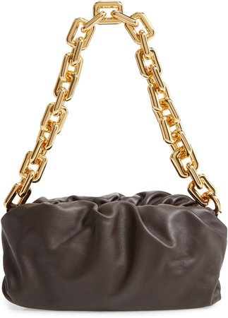 The Chain Pouch Leather Shoulder Bag