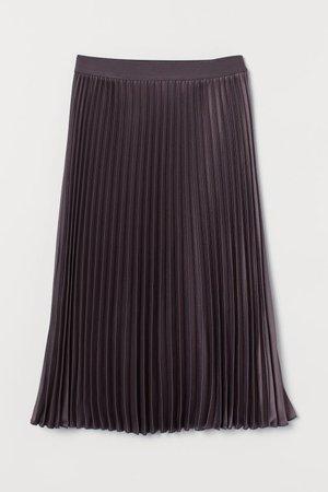 Pleated Skirt - Dark purple - Ladies | H&M US
